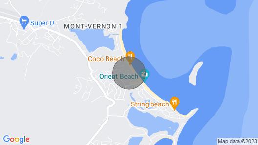 Princess Mahault sur la Plage D'orient Bay, Deluxe Map
