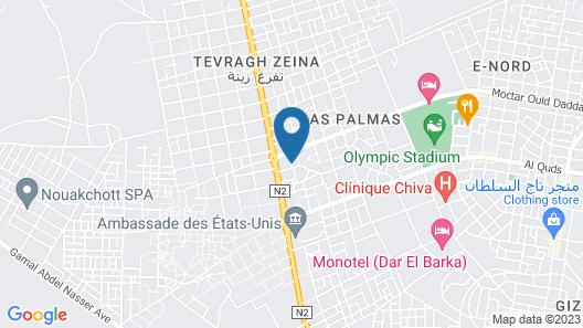 Auberge Samiraa - Hostel Map