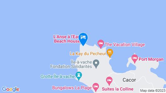 L Anse a L'eau Beach House Map