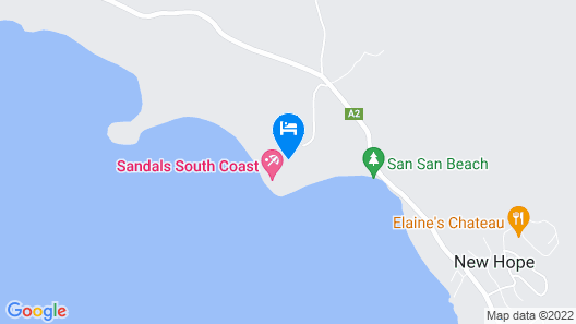 Sandals South Coast - ALL INCLUSIVE Couples Only Map