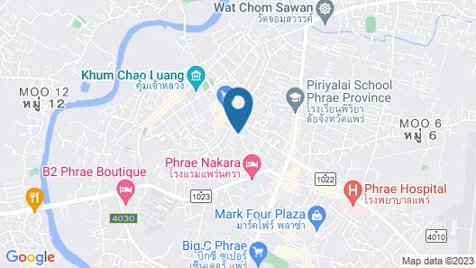 Taris Art Hotel Phrae Map