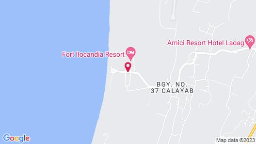 Fort Ilocandia Resort Hotel Map