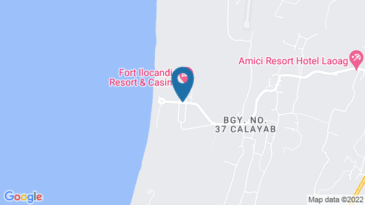 Fort Ilocandia Resort Hotel Map