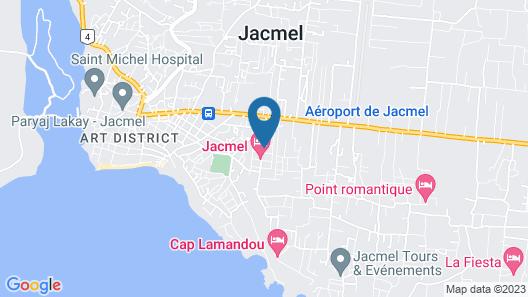 My Auberge Inn Jacmel Map
