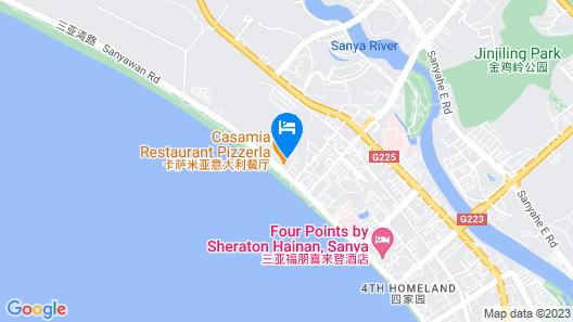 Sanya Beach Yard Apartment Sanya Bay Map