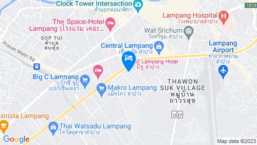 B2 Lampang Boutique & Budget Hotel Map