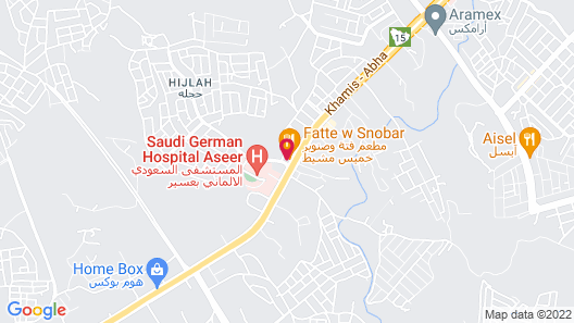 Golden Bujari Hotel Al Khamis Map