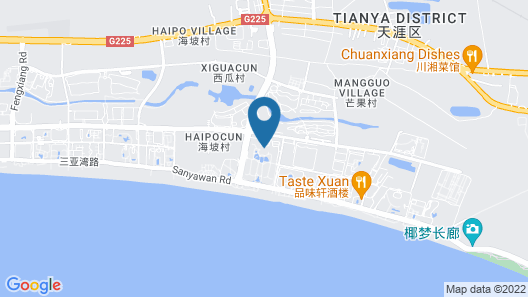 Howard Johnson Resort Sanya Bay Map