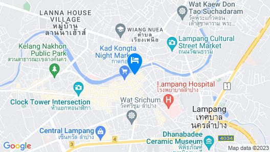 Baankieng Guesthouse Lampang Map