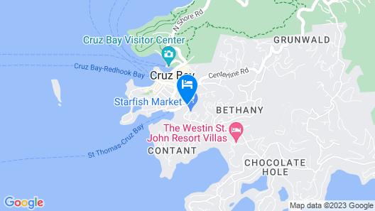 New 2BR Villa w/ Ocean View Balcony Near Cruz Bay Map