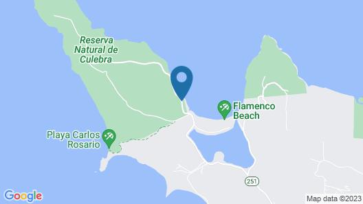 Glamping at Flamenco Beach Map
