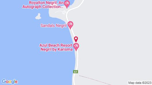 Azul Beach Resort Negril, Gourmet All Inclusive by Karisma Map