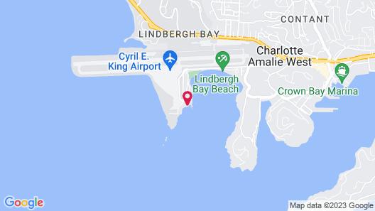 Lindbergh Bay Hotel and Villas Map