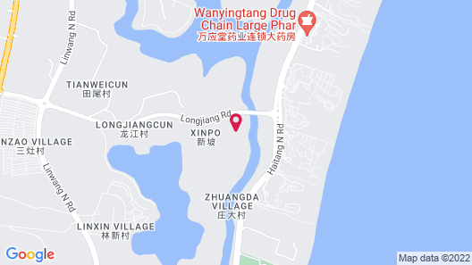 DoubleTree Resort by Hilton Hotel Sanya Haitang Bay Map