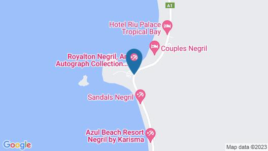 HS Negril Jamaica Getaway Map