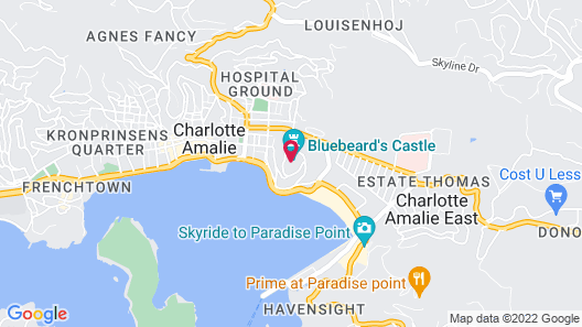 Pirates Pension at Bluebeard's Castle by Capital Vacations Map