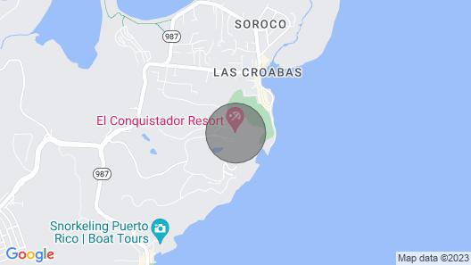 Las Casitas Village Resort - Ocean View, Fajardo, Puerto Rico Map