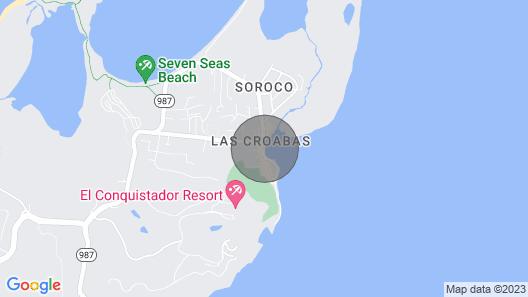 Stunning Ocean Front Apartment Next to El Conquistador Resort Map