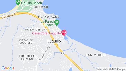 Luquillo Beach Hostel Map