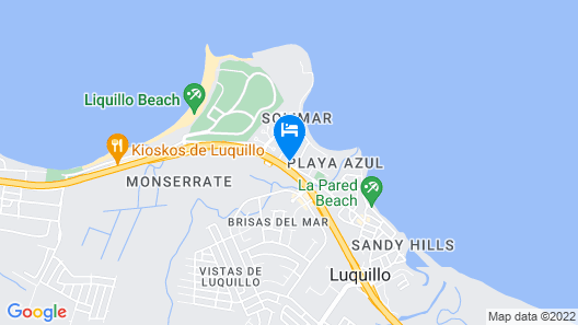 Newly Renovated Beautiful Beachside Studio in Luquillo with WIFI Map