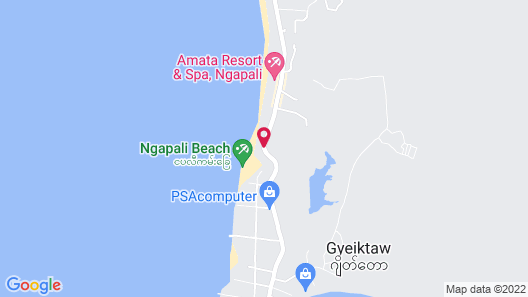 Thande Beach Hotel Ngapali Map