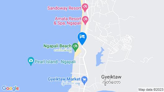 Thande Beach Hotel Ngapali Map