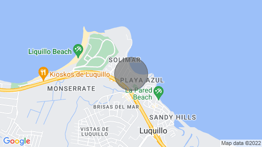 Stunning View! Beachfront Apartment in Playa Azul 1 With Cable & Wifi Map