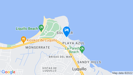 Luquillo Beach Flat Beachfront Gorgeous 3 Bedroom on Luquillo Beach Map