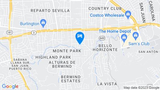 Monte Carlo Apartments Unit B Map