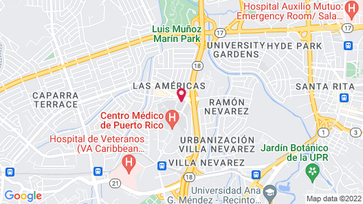 Howard Johnson Centro Cardiovascular San Juan Map