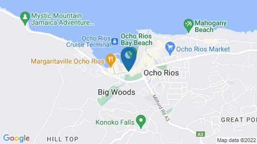 Ocho Rios Sandcastles Ocean View Fantastic Location Sleeps 4 Map