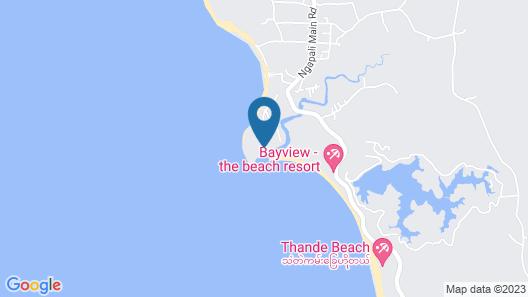 Coconut Island Resort Ngapali Map