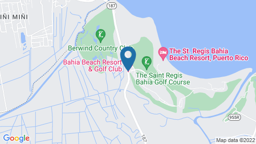 The St. Regis Bahia Beach Resort, Puerto Rico Map