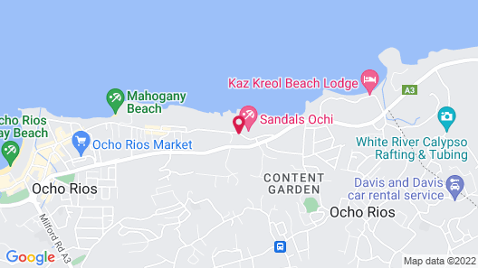 Sandals Ochi - ALL INCLUSIVE Couples Only Map