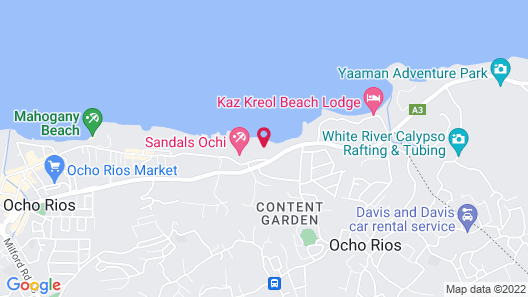 Sandals Royal Plantation - ALL INCLUSIVE Couples Only Map