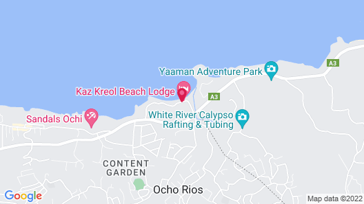 Kaz Kreol Beach Lodge & Wellness Retreat Map
