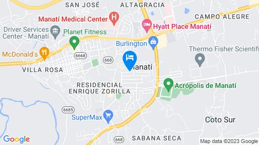 Atenas City Inn Map