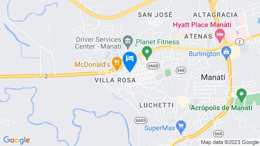 Manati City Inn Hotels Map