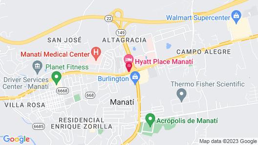 Hyatt Place Manati Map