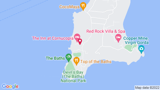 Rockmere, THE Baths, Spring Bay: Recently Rebuilt AND Remodeled Post Irma Map