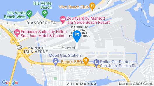 San Juan Airport Hotel Map