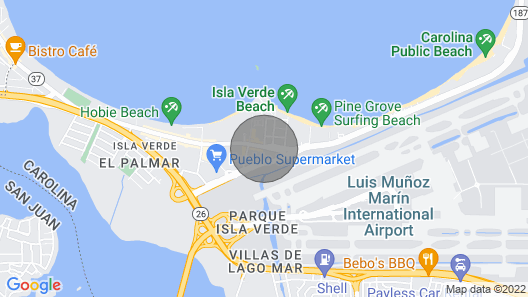 Studio On Isla Verde, Puerto Rico, USA Map
