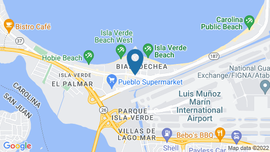 Hampton Inn & Suites San Juan, Puerto Rico Map