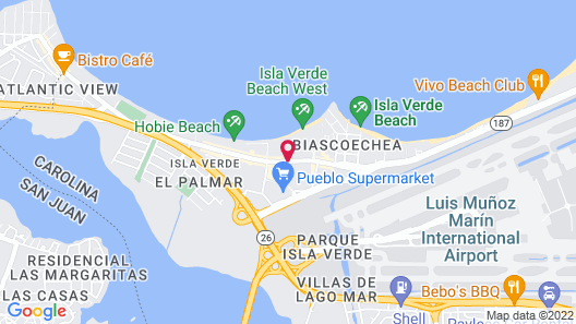 Máre St. Clair Hotel Map