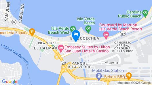 Fairmont El San Juan Hotel Map