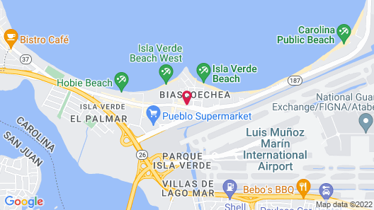 Coral by the Sea Hotel Map
