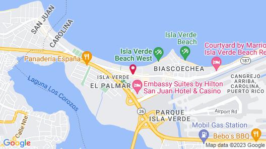Borinquen Beach Inn Map