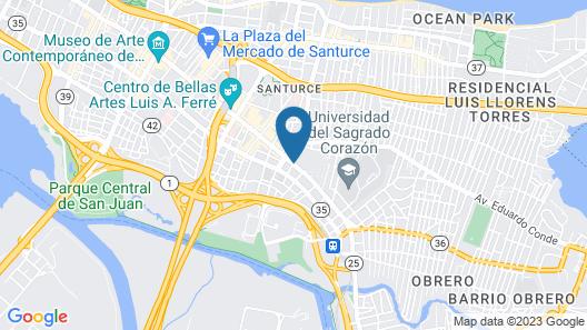 San Jorge Hotel & Hostel Map