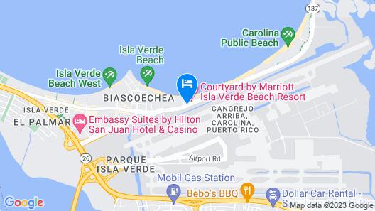 Courtyard by Marriott Isla Verde Beach Resort Map