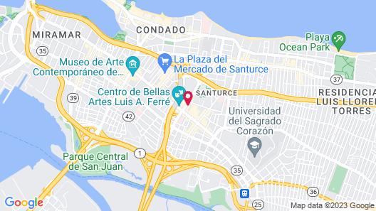 Santurcia Hostel - Adults Only Map